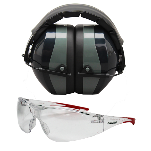 Champion Traps and Targets Champion Traps and Targets Shooting Glasses Ballistic Eyes and Ears Combo 40622
