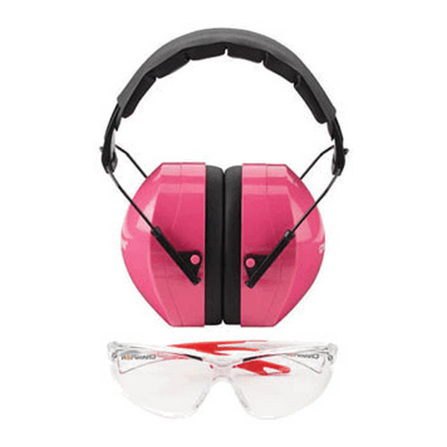 Champion Traps and Targets Champion Traps and Targets Shooting Glasses Ballistic Eyes and Ears Combo, Pink 40624