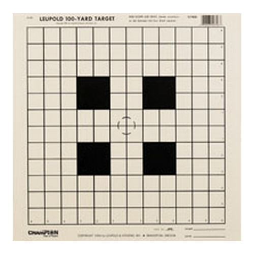 Champion Traps and Targets NRA Targets Scope Sight-in Tagboard (Per 12) 40746