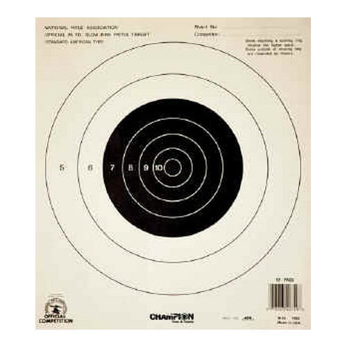 Champion Traps and Targets Champion Traps and Targets NRA Targets 25yd Slow Fire Tagboard (Per 12) 40749