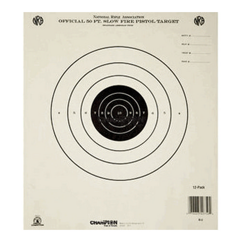 Champion Traps and Targets Champion Traps and Targets Gb2 50 Ft Slow Fire(Training&Qualifying)(12 Pack) 40750
