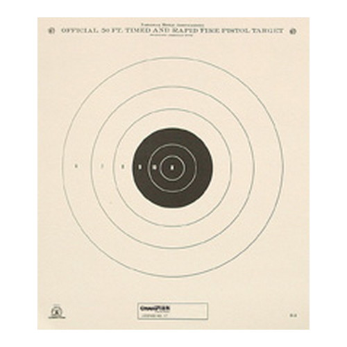 Champion Traps and Targets NRA Targets 50ft Timed & Rapid Fire Tagboard (Per 12)
