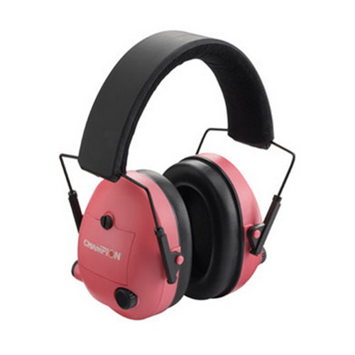Champion Traps and Targets Champion Traps and Targets Ear Muffs Electronic, Pink 40975