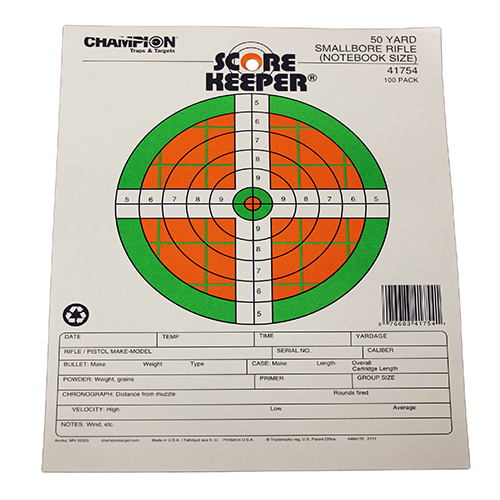 Champion Traps and Targets Champion Traps and Targets 50 Yard Smallbore Notebook 41754