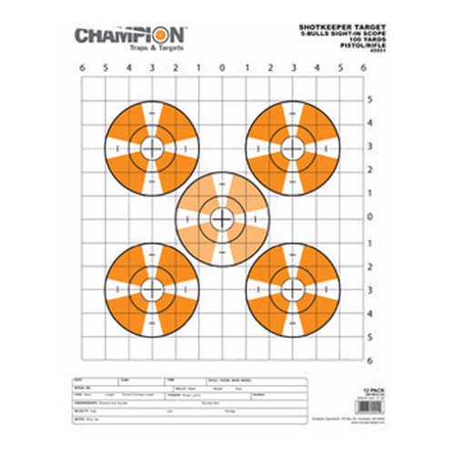 Champion Traps and Targets Champion Traps and Targets Shotkeeper Sightin Scope Target (Per 12) Large 45551