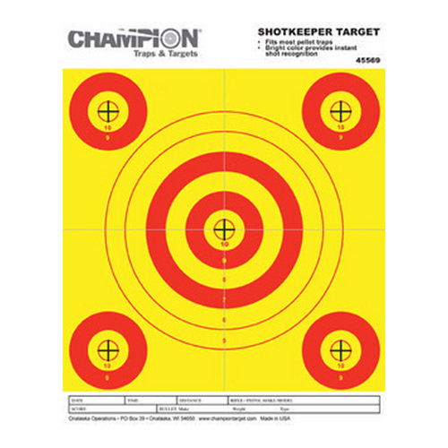 Champion Traps and Targets Champion Traps and Targets Shotkeeper 5 Bulls (Per 12) Pellet Trap Target 45569