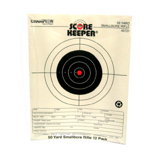 Champion Traps and Targets Champion Traps and Targets Orange Bullseye Targets 50yd Small Bore Notebook (Per 12) 45721