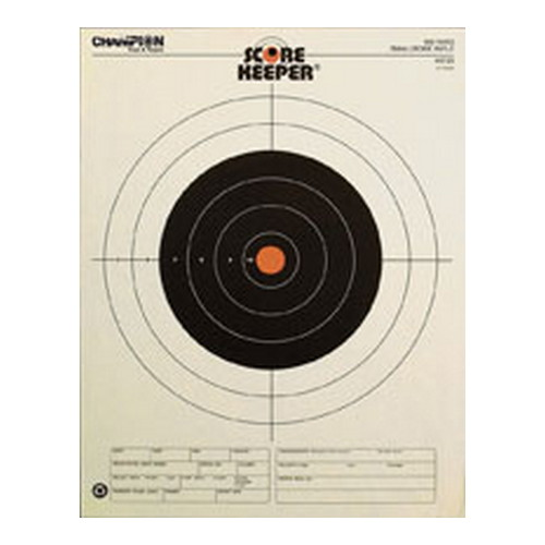 Champion Traps and Targets Champion Traps and Targets Orange Bullseye Targets 100yd Small Bore Rifle (Per 12) 45725