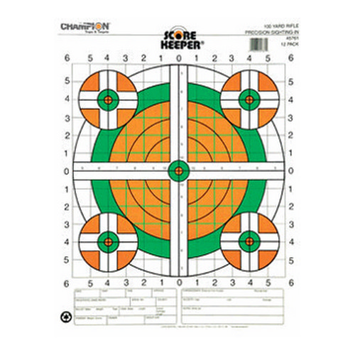 Champion Traps and Targets Champion Traps and Targets 100 Yard Sightin Rifle, Flourescent (Per 100) 45731