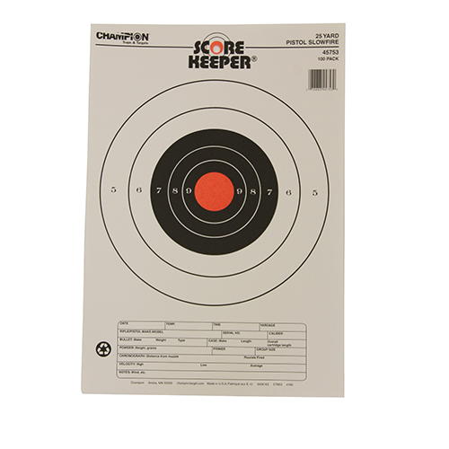 Champion Traps and Targets Champion Traps and Targets 25 Yard Pistol Slow Fire O/B (Per 100) 45753