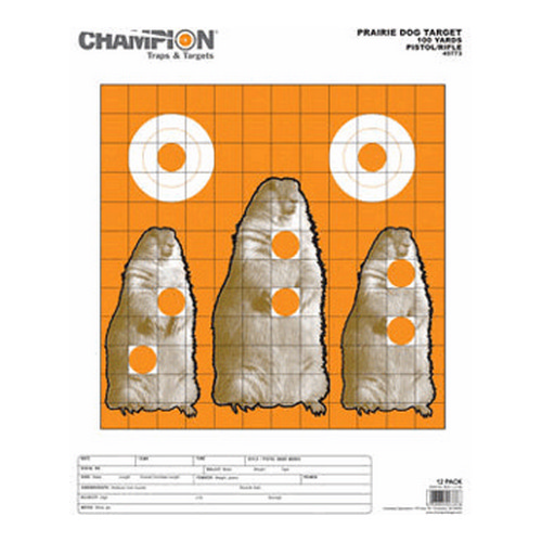 Champion Traps and Targets Champion Traps and Targets Prairie Dog Target Large 12 Pack 45773