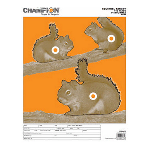 Champion Traps and Targets Champion Traps and Targets Squirrel Target Large 12 Pack 45788