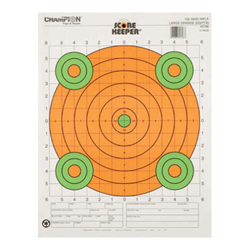 Champion Traps and Targets Champion Traps and Targets 100 Yard Sight In Large Orange (Per 12) 45796