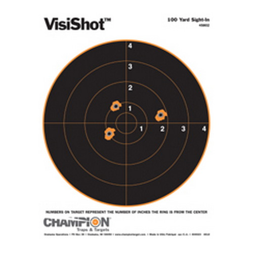 Champion Traps and Targets Champion Traps and Targets VisiShot Targets 100 Yard Sight In (10 Pack) 45802