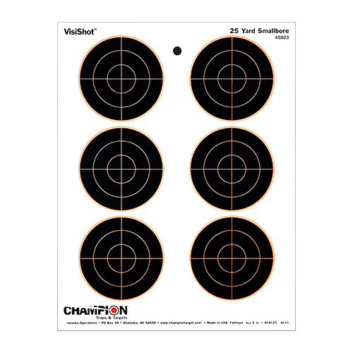 Champion Traps and Targets Champion Traps and Targets VisiShot Targets 25 Yard Small Bore (10 Pack) 45803