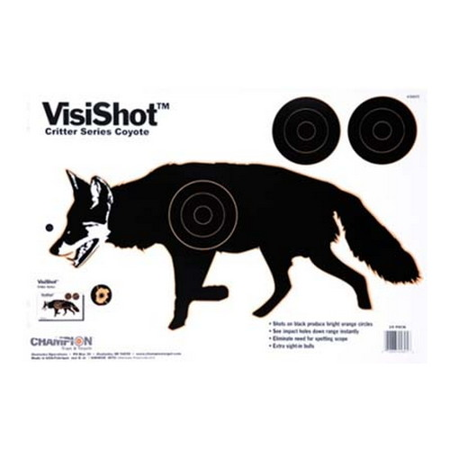 Champion Traps and Targets Champion Traps and Targets VisiShot Targets Critter Series, Coyote (10 Pack) 45805