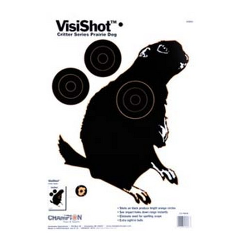 Champion Traps and Targets Champion Traps and Targets VisiShot Targets Critter Series, Prairie Dog (10 Pack) 45806