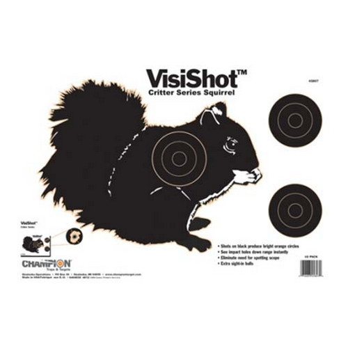 Champion Traps and Targets Champion Traps and Targets VisiShot Targets Critter Series, Squirrel (10 Pack) 45807