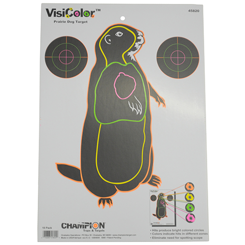 Champion Traps and Targets Champion Traps and Targets Visicolor Targets Prairie Dog (10 Pack) 45820