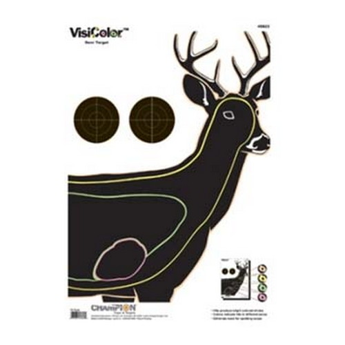Champion Traps and Targets Champion Traps and Targets Visicolor Targets Deer (10 Pack) 45823