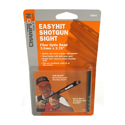 Champion Traps and Targets Champion Traps and Targets Easy Hit Shotgun Sight 3mm, Green, 2.75