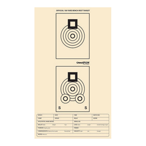 Champion Traps and Targets Champion Traps and Targets Benchrest Target 100 Yard 46000