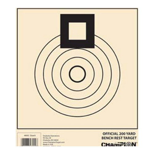 Champion Traps and Targets Champion Traps and Targets Benchrest Target 200 Yard 46002