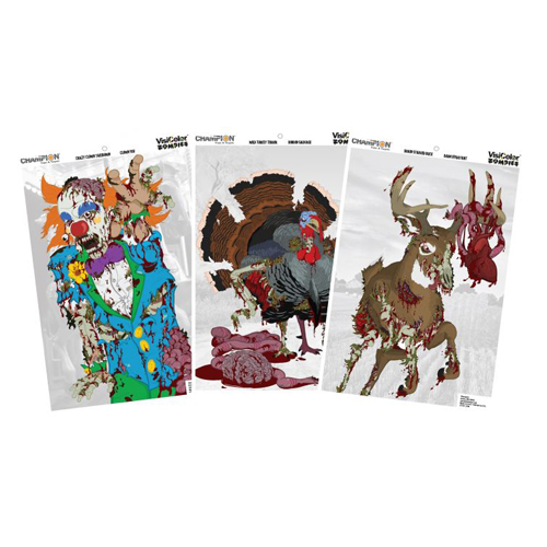 Champion Traps and Targets Champion Traps and Targets Zombie Targets Visicolor, Variety Pack 12x18