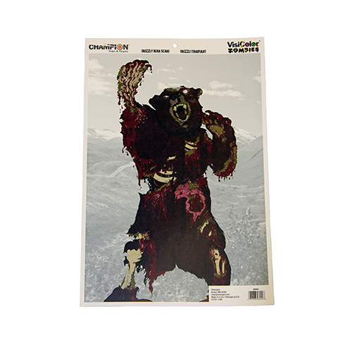 Champion Traps and Targets Champion Traps and Targets Zombie Targets Visicolor, Bulk Pack, Kodiak Bear 46044