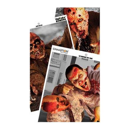 Champion Traps and Targets Champion Traps and Targets Zombie Targets Visicolor, Variety, 6 Pack, 12