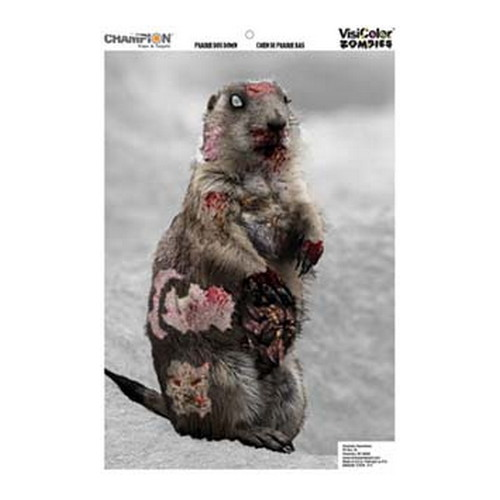 Champion Traps and Targets Champion Traps and Targets Zombie Targets Visicolor Door Bulk Pack Cute Animal 12