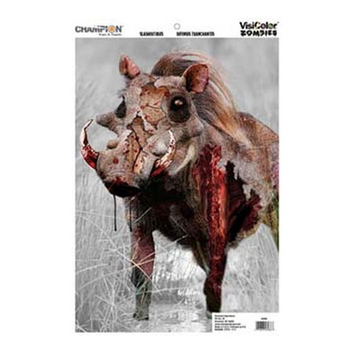 Champion Traps and Targets Champion Traps and Targets Zombie Targets Visicolor Door Bulk Pack Vicious Animal 12