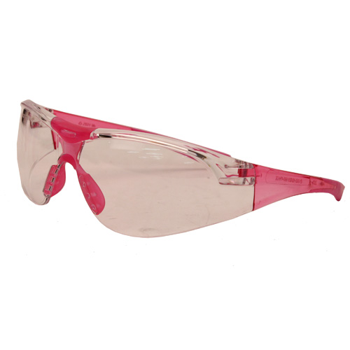 Champion Traps and Targets Champion Traps and Targets Youth Clear Glasses - Pink Temples 55604