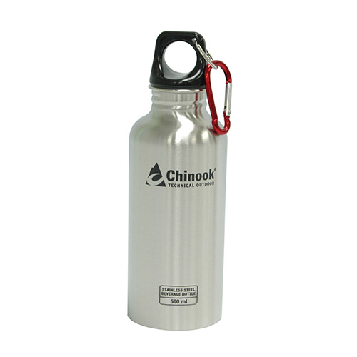 Chinook Chinook Cascade Wide Mouth Stainless Steel Bottle 16 oz., Natural 41130