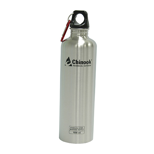 Chinook Chinook Cascade Wide Mouth Stainless Steel Bottle 32 oz., Natural 41135