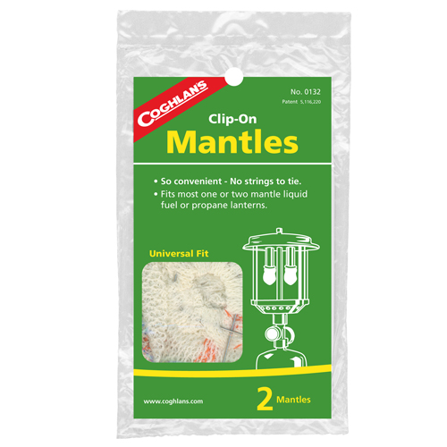 Coghlans Coghlans Mantle Replacements Clip-On, Package of 2 0132