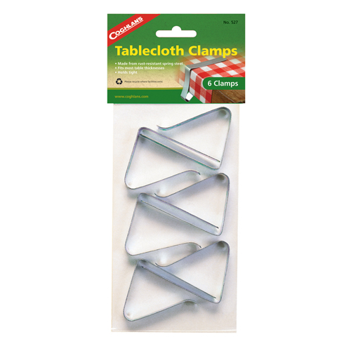 Coghlans Tablecloth Clamps - Package of  6