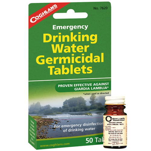 Coghlans Coghlans Emergency Germicidal Drinking Water Tablets 7620