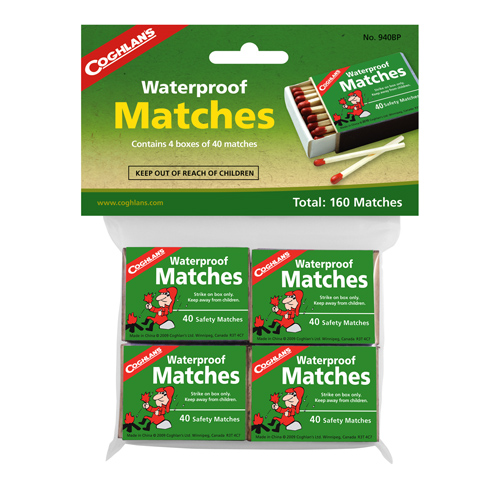 Coghlans Coghlans Waterproof Matches, Package of 4 940BP