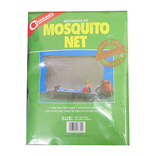 Coghlans Mosquito Net Backwoods, Single, Green