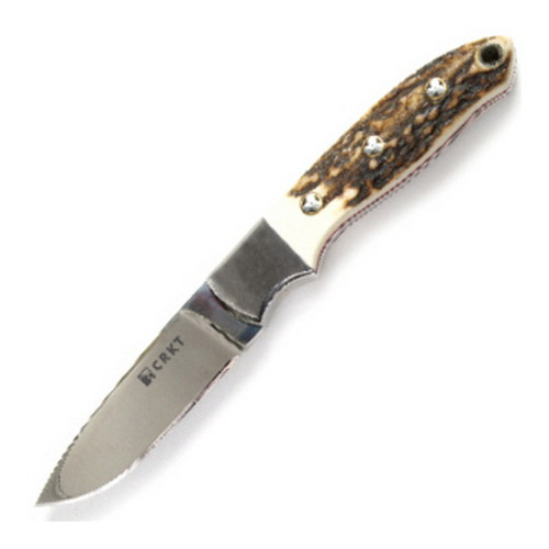 Columbia River Columbia River Kommer Brow Tine Stag Handle, Razor Sharp 2860