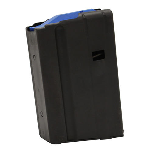 C Products Defense C Products Defense AR-15 Magazine 6.5mm SS Matte Black/Blue Follower 5 Round (Per 1) 0565041186CPD