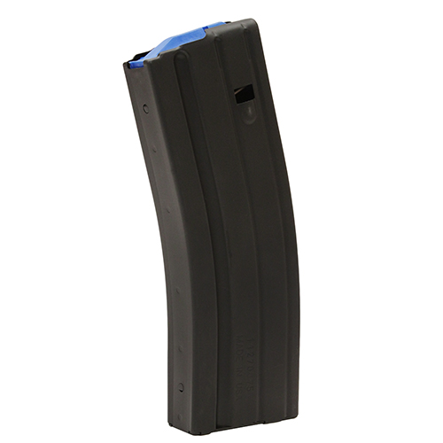 C Products Defense C Products Defense AR-15 Magazine 6.5mm SS Matte Black/Blue Follower 25 Round (Per 1) 2565041176CPD