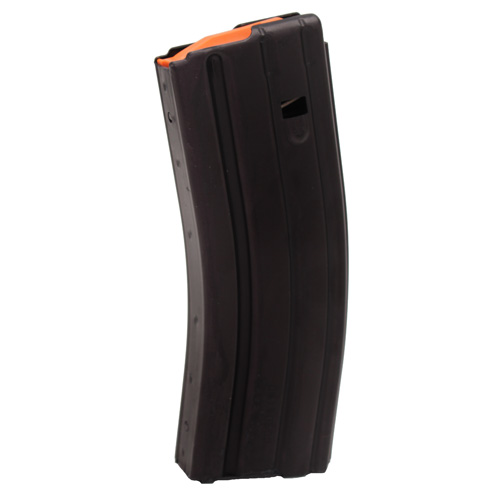 C Products Defense 223 Remington Aluminum Teflon 30 Round Magazine Black/Orange Follower