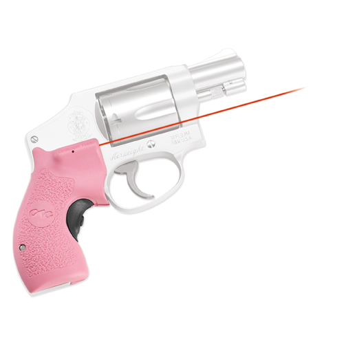 Crimson Trace Crimson Trace Smith and Wesson J-Frame Round Butt Lasergrip,Front Activation-Pink LG-105 PINK