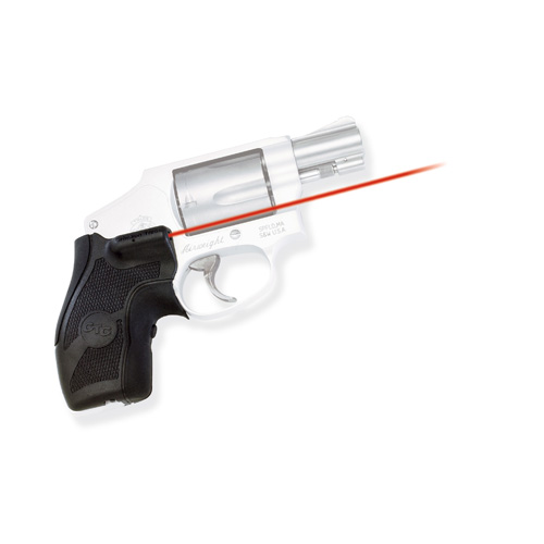 Crimson Trace Smith and Wesson J Frame Round Butt Overmold Front Activation, Boot Grip