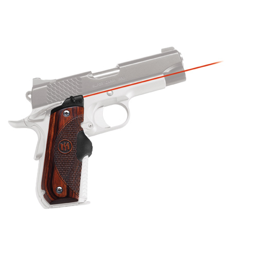 Crimson Trace Crimson Trace 1911 Government/Commander Round Heel, Rosewood, Front Activation LG-907