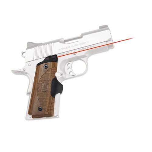 Crimson Trace Crimson Trace 1911 Officer's/Compact/Defender Walnut LaserGrip Front Activation LG-909
