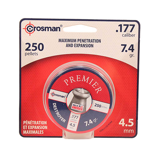 Crosman Crosman Pellet Blister Pack .177 (per 250), Destroyer Premier DS177