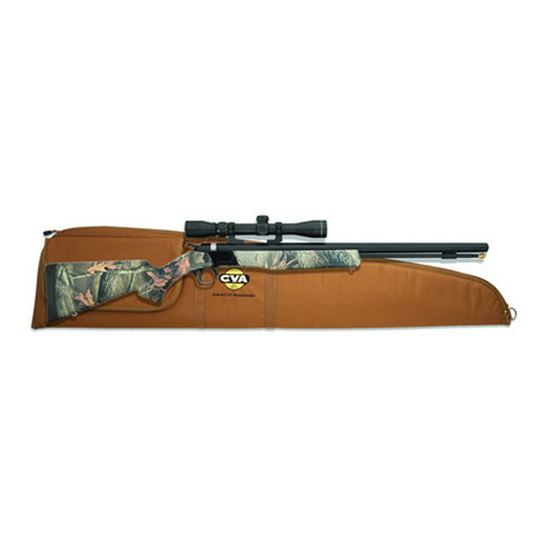 CVA Wolf .50 Caliber Muzzleloader Blued/Camo, KonuShot 3-9x32mm Scope